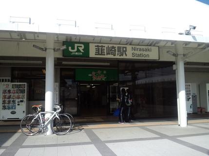 韮崎駅をスタート地点としました。素朴な高校生たちが部活に出かけていきます